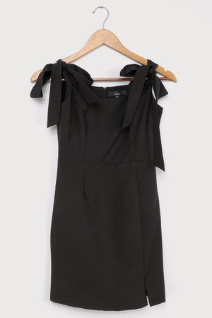 Cute Black Dress - Tie-Strap Dress - Sleeveless Mini Dress - Lulus