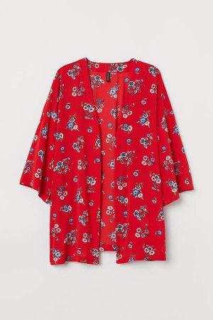 H&M+ Patterned Kimono - Red