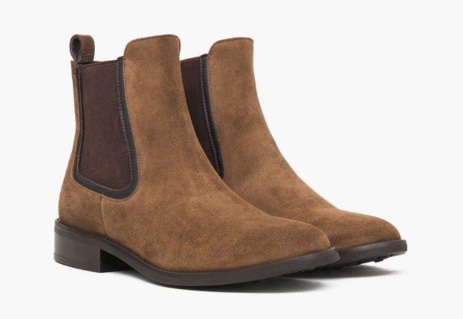 Women's Cognac Suede Duchess Chelsea Boot | Thursday Boot Company