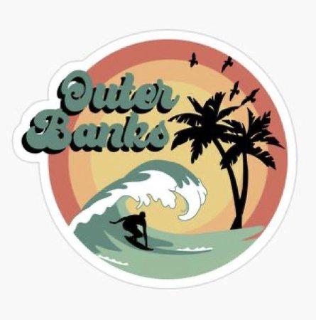 Retro Outer Banks Sticker