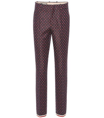 Geometric G Cotton-Blend Pants - Gucci | Mytheresa