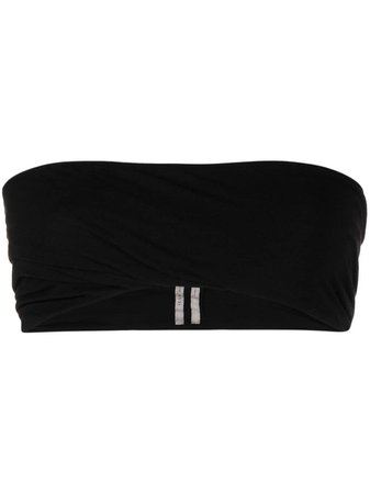Rick Owens bandeau strapless cropped top black RO21S3158JS - Farfetch