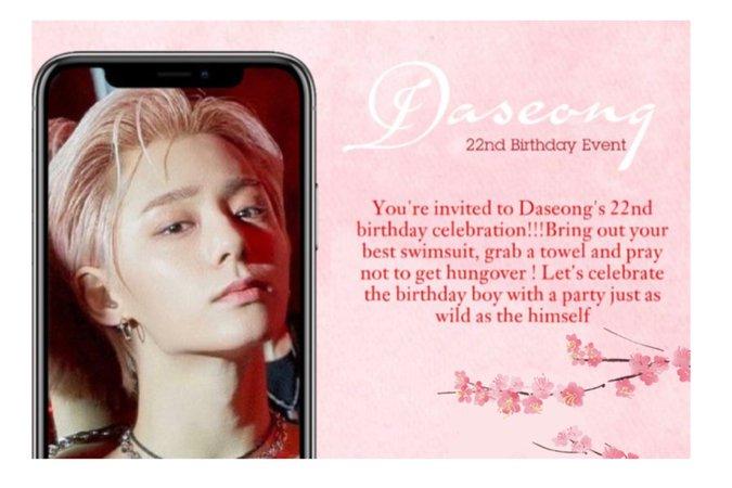 Daseong's 22nd Birthday Event || Logo