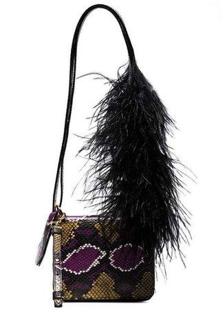 Marques'Almeida brown snake-effect leather shoulder bag