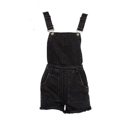 Black overall png shared by theycallmewalta on We Heart It