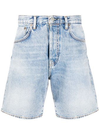 Acne Studios Flared Denim Shorts - Farfetch