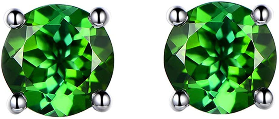 Emarald Swarovski Crystal Stud Earrings 18K White Gold Plated with AAAA Cubic Zircon Stone Women Girls Jewellery