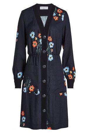 Anemones Printed Mini Dress Gr. FR 40