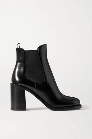 Black 85 glossed-leather Chelsea boots | Prada | NET-A-PORTER