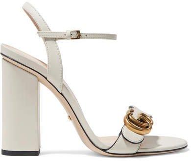 Marmont Logo-embellished Leather Sandals - Ivory