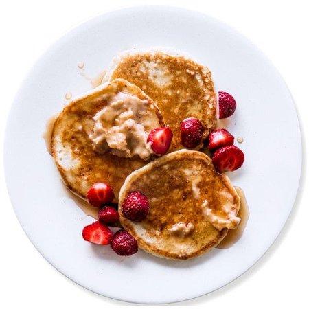 strawberry pancake plate