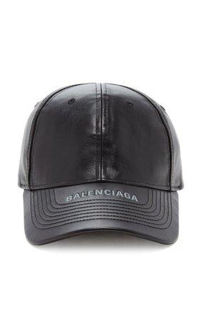 Leather Baseball Cap By Balenciaga | Moda Operandi