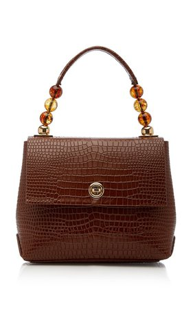 Carré Croc-Embossed Leather Top Handle Bag by IMAGO-A | Moda Operandi