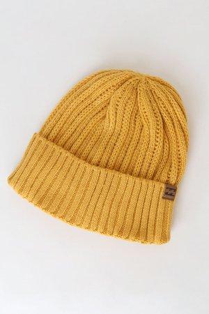 Billabong So Chill - Yellow Beanie - Knit Beanie - Yellow Hat - Lulus