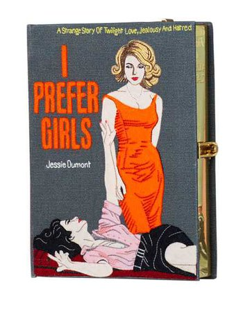 Olympia Le-Tan I Prefer Girls Book Clutch Bag