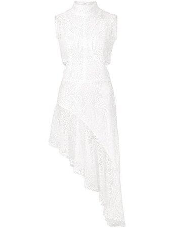 Alexander McQueen Asymmetric Floral Lace Dress