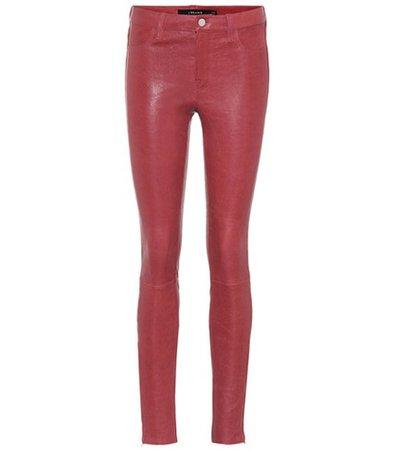 Super Skinny leather leggings