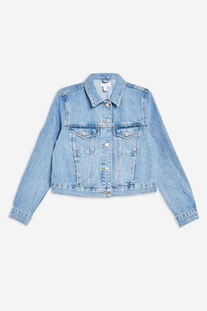 Blue Fitted Denim Jacket | Topshop