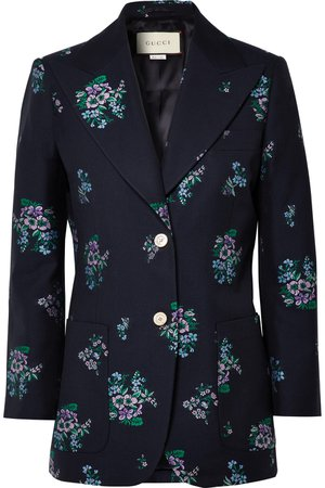 Gucci | Cotton and wool-blend jacquard blazer | NET-A-PORTER.COM