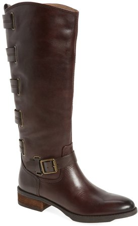 'Franzie' Leather Knee High Boot