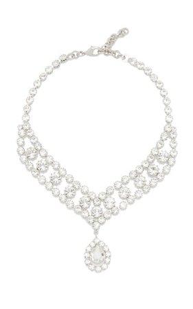 Crystal-Embellished Silver-Tone Necklace By Alessandra Rich | Moda Operandi