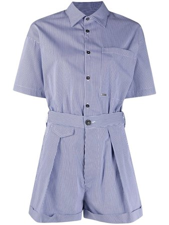Dsquared2 short-sleeve button-fastening Playsuit - Farfetch