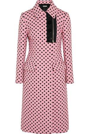 Miu Miu | Polka-dot jacquard coat | NET-A-PORTER.COM