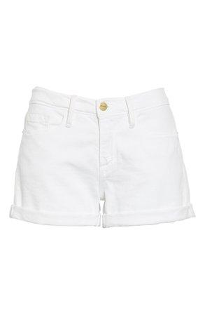 FRAME Le Cutoff Denim Shorts (Blanc) | Nordstrom