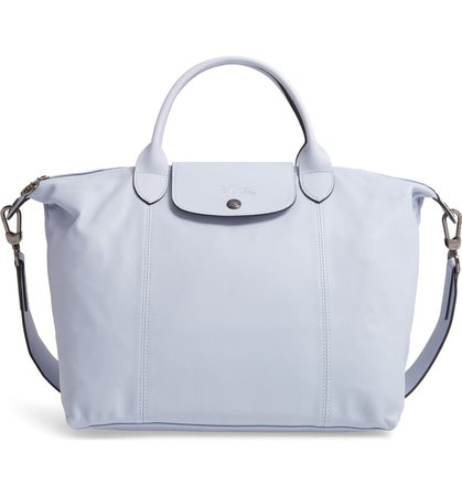 Longchamp Medium Le Pliage Cuir Leather Top Handle Tote | Nordstrom