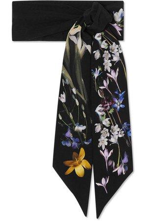 Alexander McQueen   Ophelia floral-print silk scarf