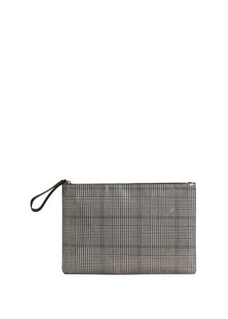 Violeta BY MANGO Large checked cosmetic bag