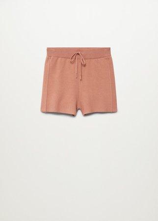 Knitted shorts - Women   Mango USA