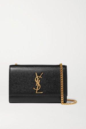 Monogramme Kate Small Textured-leather Shoulder Bag - Black