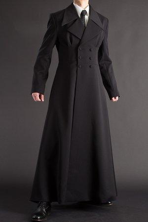 Long Mantle Cloak coat men Trench Coat