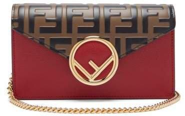 Ff Logo Leather Belt Bag - Womens - Red Multi