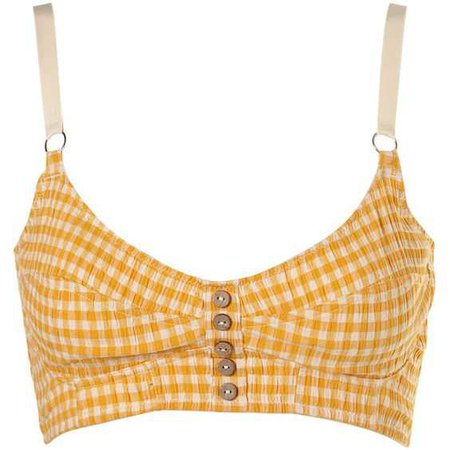 Yellow Checkered Bralette