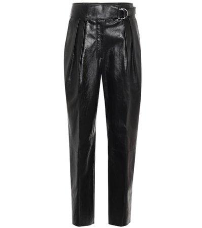 Belted Leather Carrot Pants - Jil Sander | Mytheresa