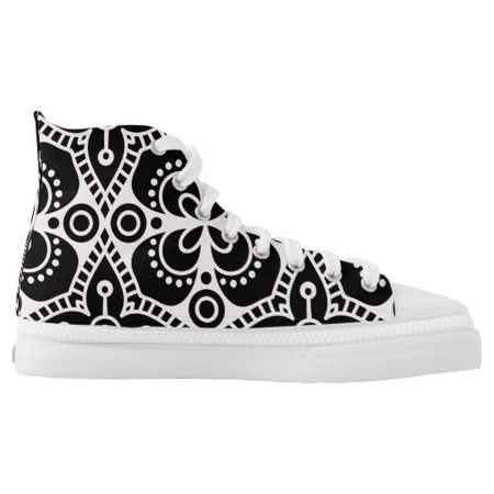 boho, bohemian, mandala, mandalas, flower, flowers High-Top sneakers | Zazzle.com
