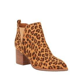 Melrose Ave - Melrose Ave Vegan Suede Leopard Slip On Block Heel Bootie (Women's) - Walmart.com