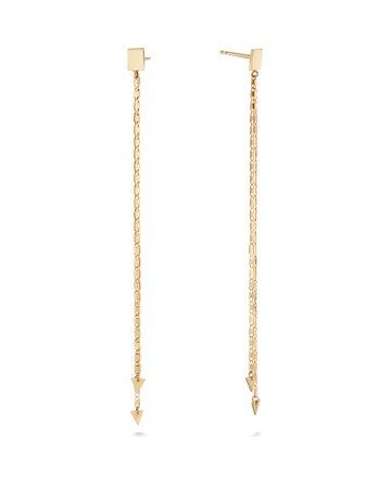 Lana 14k Layered Malibu Arrow Duster Earrings | Neiman Marcus