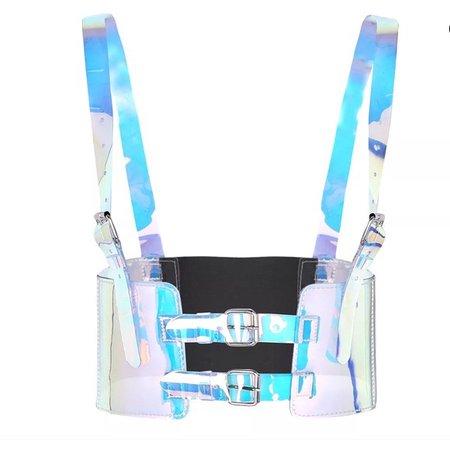 Hologram body harness strap belt rave Lolita doll