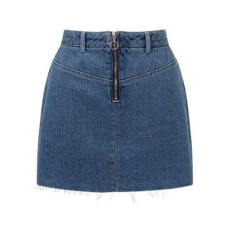PETITE Zip Front Skirt