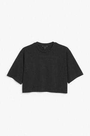 Cropped retro tee - Black magic - Tops - Monki GB