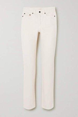 Ash High-rise Straight-leg Jeans - Ivory
