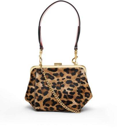 Haircalf Leather Frame Bag