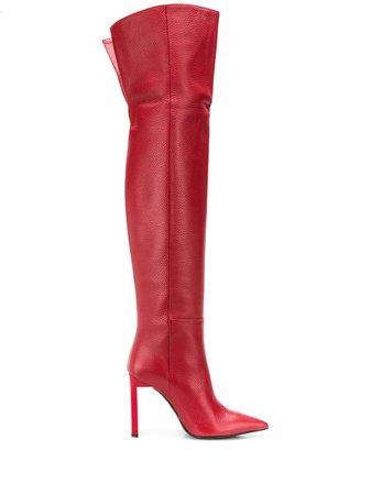 Just Cavalli 100Mm Thigh High Boots   Farfetch.com