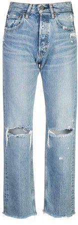 Vintage high rise ripped jeans