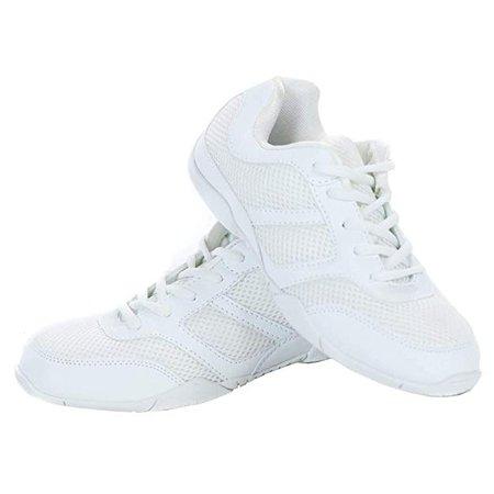 Amazon.com | Danzcue Cheer Shoe, White, 5 M | Fashion Sneakers