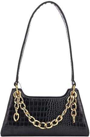 Gophralove Small Women Shoulder Cellphone Purse and Handbag Wallet with Chain Decoration PU Leather Fashionable Clutch Purse (Black): Handbags: Amazon.com