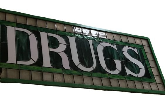 drugs tile sign